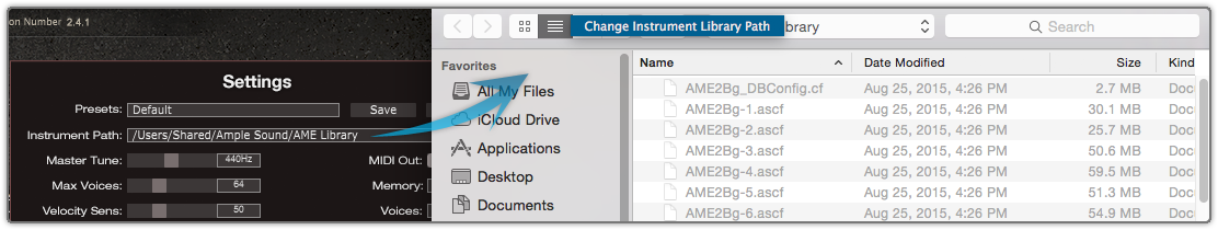 Instrument files path Setting