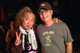 with drum master Funky Sueyoshi