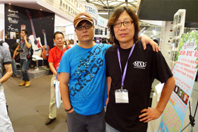 with guitar builder Quanwu Sun